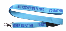 Royal Air Force RAF 'I'd Rather Be Flying' Lanyard